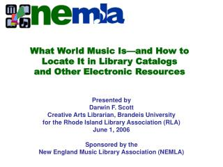 What World Music Is—and How to Locate It in Library Catalogs and Other Electronic Resources