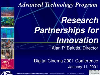 Research Partnerships for Innovation