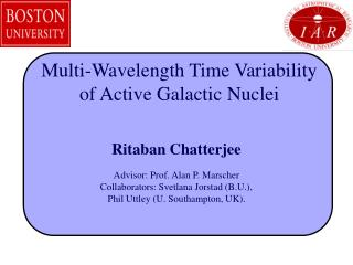 Multi-Wavelength Time Variability of Active Galactic Nuclei