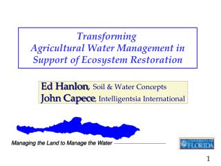 Transforming  Agricultural Water Management in Support of Ecosystem Restoration