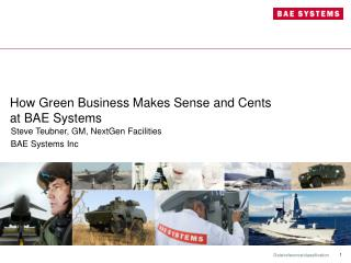 How Green Business Makes Sense and Cents at BAE Systems