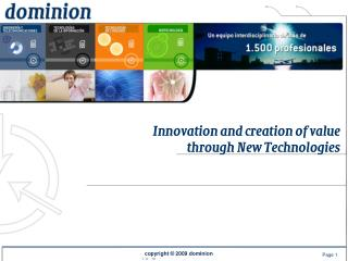 Innovation and creation of value  through New Technologies