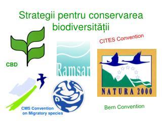 Strategii pentru conservarea biodiversit ăț ii