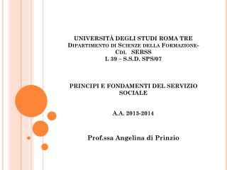 Prof.ssa Angelina di Prinzio