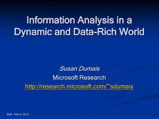 Susan Dumais Microsoft Research research.microsoft/~sdumais