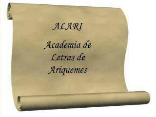 ALARI  Academia de Letras de Ariquemes