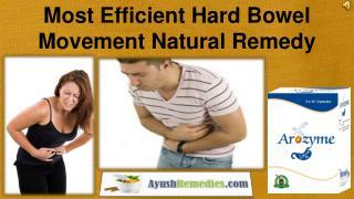 Most Efficient Hard Bowel Movement Natural Remedy