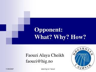 Faouzi Alaya Cheikh faouzi@hig.no