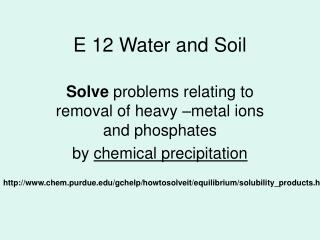 E 12 Water and Soil