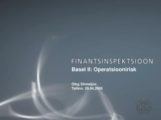 Basel II: Operatsioonirisk