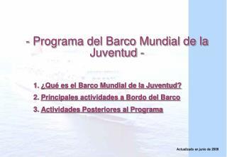 - Programa del Barco Mundial de la Juventud -