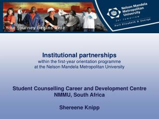 Institutional partnerships  within the first-year orientation programme