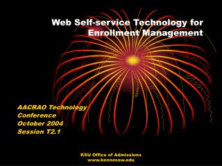 Web Self-service Technology for Enrollment Management