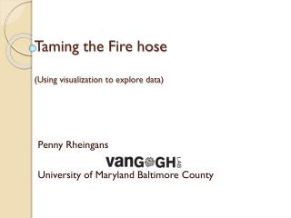 Taming the Fire hose (Using visualization to explore data)