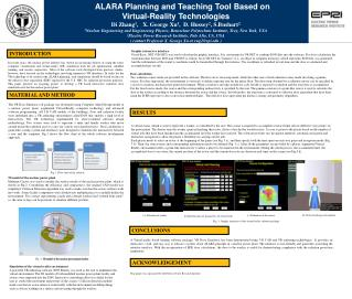 ALARA Planning and Teaching Tool Based on  Virtual-Reality Technologies