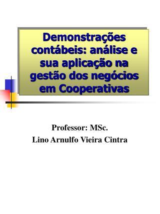 Demonstrações contábeis: análise e sua aplicação na gestão dos negócios em Cooperativas