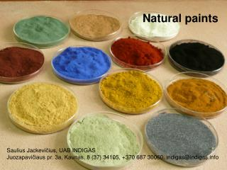 Natural paints