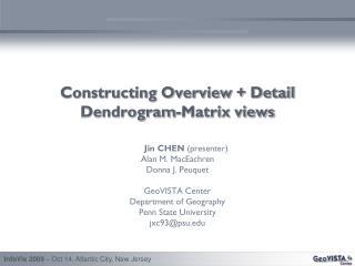 Constructing Overview + Detail Dendrogram-Matrix views