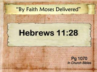 Hebrews 11:28