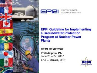 EPRI Guideline for Implementing a Groundwater Protection Program at Nuclear Power Plants