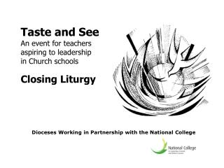 Dioceses Working in Partnership with the National College