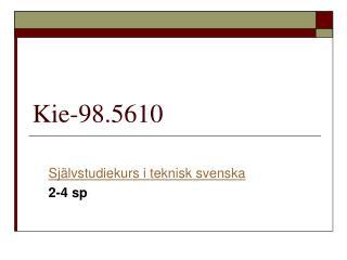 Kie-98.5610