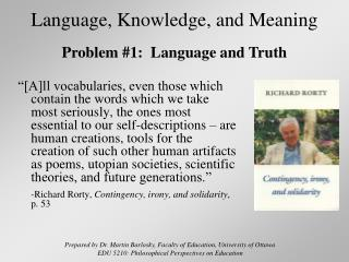 Language, Knowledge, and Meaning
