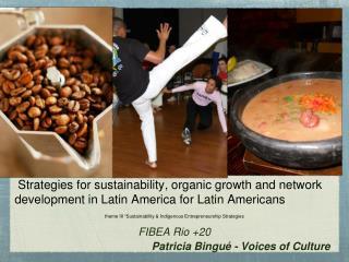 "theme III ""Sustainability & Indigenous Entrepreneurship Strategies FIBEA Rio +20"