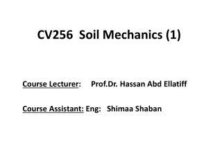 CV256  Soil Mechanics (1)