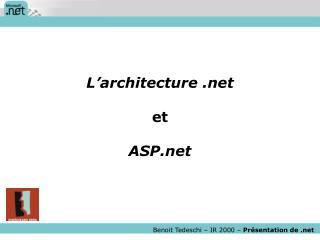Benoit Tedeschi   IR 2000   Pr sentation de
