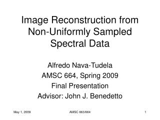 Image Reconstruction from Non-Uniformly Sampled Spectral Data