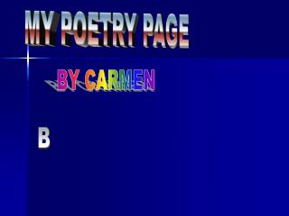 MY POETRY PAGE