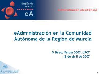 EAdministraci n en la Comunidad Aut noma de la Regi n de Murcia