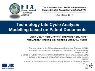 Technology Life Cycle Analysis Modelling based on Patent Documents ]