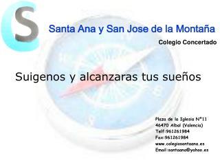 Santa Ana y San Jose de la Montaña Colegio Concertado