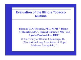 Evaluation of the Illinois Tobacco Quitline