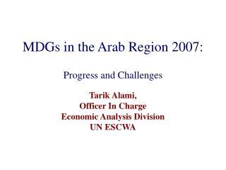 MDGs in the Arab Region 2007: