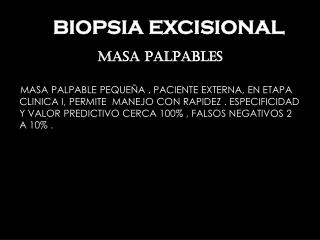 BIOPSIA EXCISIONAL