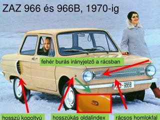 ZAZ 966 és 966B, 1970-ig