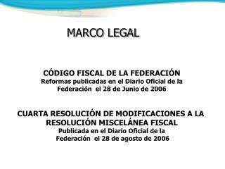 CÓDIGO FISCAL DE LA FEDERACIÓN Reformas publicadas en el Diario Oficial de la