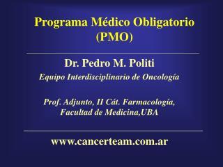 Programa Médico Obligatorio (PMO)
