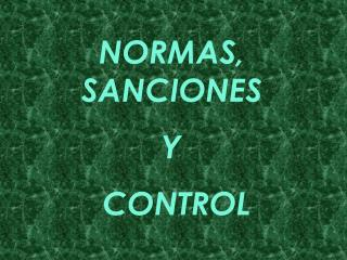NORMAS, SANCIONES  Y  CONTROL