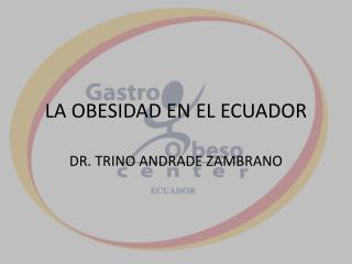 LA OBESIDAD EN EL ECUADOR