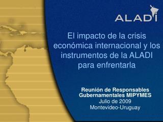 El impacto de la crisis econ�mica internacional y los instrumentos de la ALADI para enfrentarla