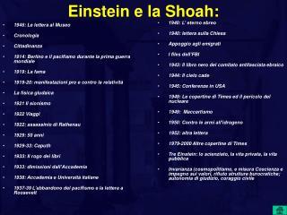 Einstein e la Shoah: