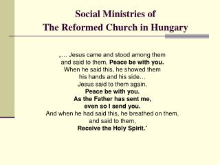 Social Ministries of The Reformed Church in Hungary
