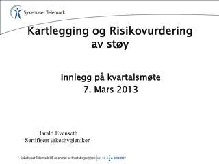 Kartlegging og Risikovurdering  av støy