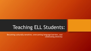 Preschool English Language Learners-Strategies for Teachers