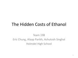 The Hidden Costs of Ethanol