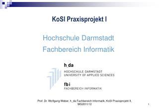 KoSI Praxisprojekt I